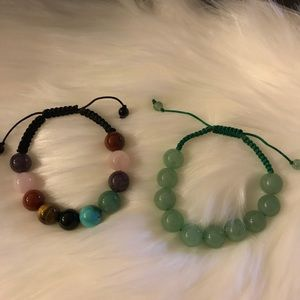 Jewelry - Semi precious stones adjustable bracelet
